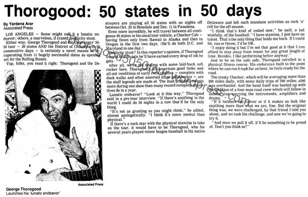 00 Thorogood 50 States in 50 Days Headline with Large Photo
