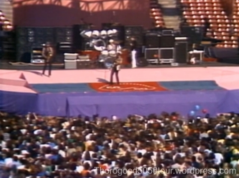 50 50 Tour Carpet on Stage in San Francisco CA Oct 17 1981 George Thorogood and the Destroyers Opening for Rolling Stones