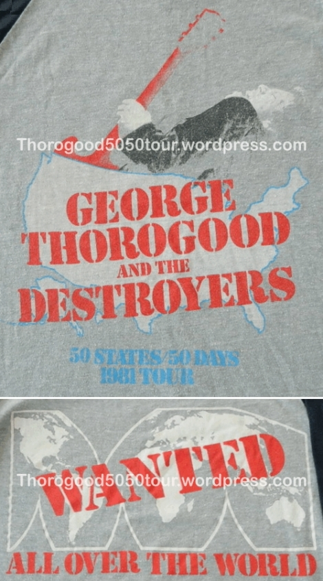 00 George Thorogood 50 50 Shirt Grey Version Front