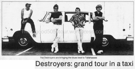 40 George Thorogood 50 50 Tour Florida Grand Tour in a Taxi Tallahassee Democrat Nov 27 1981