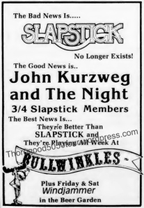 40 John Kurzweg and the Night Concert Ad 1981 October 27