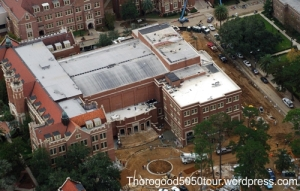 40 Ruby Diamond Auditorium Renovation Aerial Photo 2009