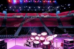 04 Pullman Beasley Coliseum Postcard Building Interior Concert Theatre Setup