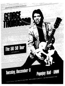 48 George Thorogood 50 50 Tour Popejoy Hall Ad New Mexico Daily Lobo Dec 3 1981
