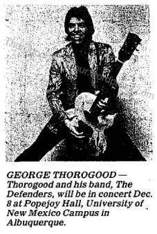 48 George Thorogood 50 50 Tour Popejoy Hall Concert Ad with Photo After Hours