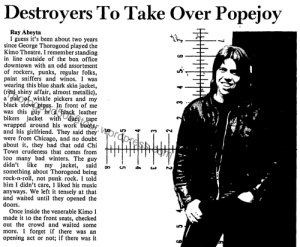 48 George Thorogood 50 50 Tour Popejoy Hall Concert Preview Destroyers Take Over New Mexico Daily Lobo Dec 3 1981