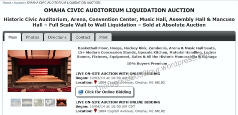 13 Omaha Music Hall Liquidation Auction