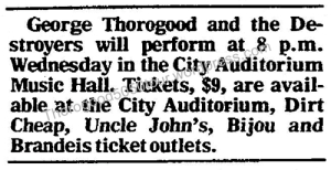 13 Thorogood 50 50 Omaha Music Hall Text Advert 2