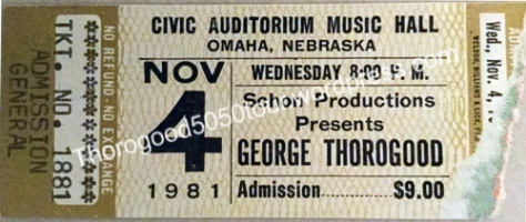 13-george-thorogood-50-50-tour-omaha-music-hall-ticket-stub-1981-nov-4