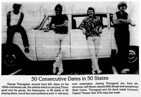 27 Thorogood Capitol Theatre Concord NH 50 50 Concert Ad Nov 27 1981