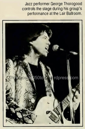 23 University of West Virginia Monticola Yearbook 1982 pg 74 George Thorogood 50-50 Tour Photo 1