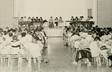 23 WVU Mountainlair Ballroom Interior View 1980 from Monticola Yearbook