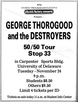 33 Delaware George Thorogood 50 50 Tour Ticket Ad Photo Opening Act udr_105_18_Page_2
