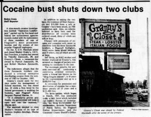 49 Shakey Drakes closing NAU Lumberjack 1986 January 23