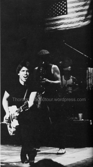 14 George Thorogood 50 50 Concert Photo 1 University of Iowa Bomb Yearbook 1982 pg 232