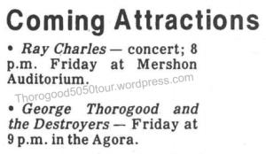 22 Agora Ballroom Columbus Thorogood 50 50 Concert Ad Ohio State Nov 13 1981 pg 12