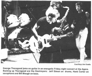 22 Agora Ballroom Columbus Thorogood 50 50 Concert Photo Ohio State Nov 16 1981 pg 11