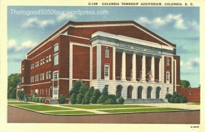 38 Township Auditorium Postcard Front of Building