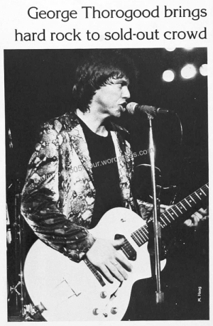 30 George Thorogood 50 50 Tour University of Rhode Island Renaissance 1982 pg 240