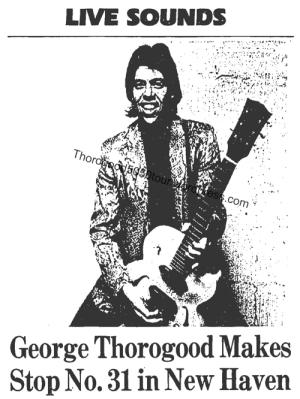 31 New Haven George Thorogood 50 50 Concert Toads Place Preview Hartford Courant Nov 20 1981 D5