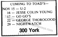 31 Thorogood 50 50 Ad Toads Place New Haven Yale Daily News November 6 1981 Pg 3
