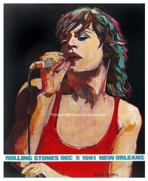 45 Louisiana Superdome Concert Poster Thorogood Opening for Rolling Stones 50 50 Tour Stop