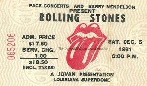 45 Louisiana Superdome Rolling Stones George Thorogood 50 50 Concert Ticket Stub