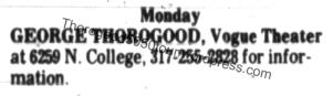 18 George Thorogood 50 50 Tour Concert Listing The Republic Nov 5 1981