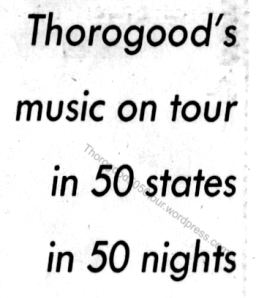 35 George Thorogood 50 50 Tour Maryland Review Pt 1 Evening Sun Nov 27 1981 pg B1