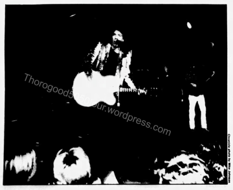 06 George Thorogood 50 50 Tour New Faces Roadhouse Salt Lake City Concert Photo Daily Utah Chronicle Nov 5 1981 pg 8