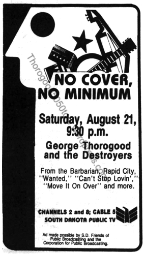 09 South Dakota Public Television Ad No Cover No Minimum Argus Leader Aug 15 1982 pg 21
