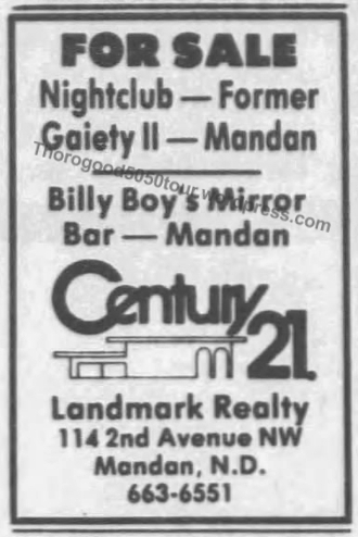 11 Gaiety II Site For Sale Bismarck Tribune Aug 17 1984