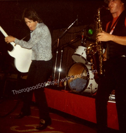 50 Las Vegas Troubadour George Thorogood 50 50 Tour Concert Photo with 50 50 Rug 1981 Dec 10 Dennis Mitchell