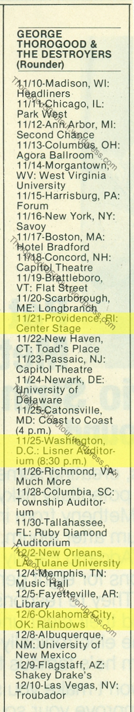 ALT5050 00 George Thorogood 50 50 Tour Itinerary w Alternate Concert Venues Circus Magazine 1981.jpg